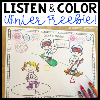 Listen and Color Winter FREEBIE: A Listening Comprehension