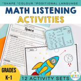 Listening Activities and following directions Math