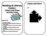 Listen and Draw Activity Cards - Reading Center Workstations
