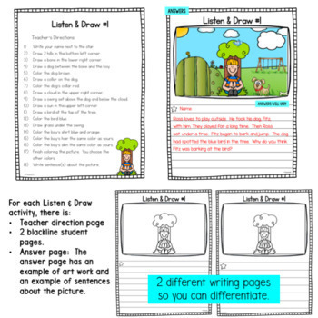 Listen and Draw Follow Directions Activity
