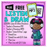 Listen and Draw Following Directions QR Code MP3 Winter