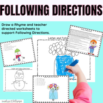 Listening and Following Directions Ready to print and use for K-1