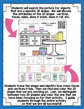 Listen and Learn Activities {3D Shapes}