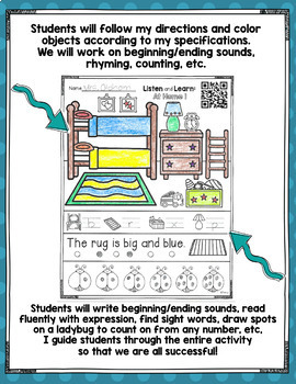 Listen and Learn Activities At Home Set 1
