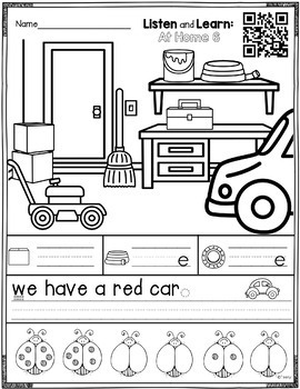 Listen and Learn Activities At Home Set 2