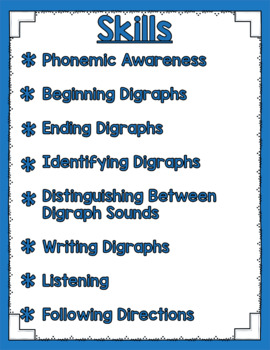 Listen and Learn Activities {Digraphs)