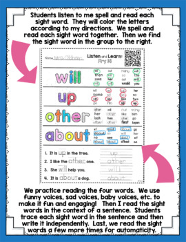 Listen and Learn Activities Fry Edition {Words 51-100}