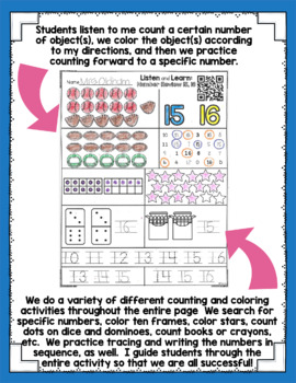 Listen and Learn Activities {Numbers 11 - 20 Mixed Review)