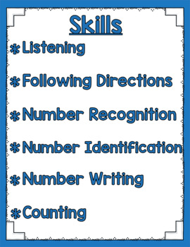 Listen and Learn Activities {Numbers to 10 Mixed Review)