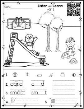 Listen and Learn Activities {R Controlled Vowels)