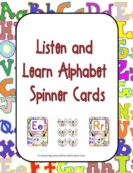 Listen and Learn Alphabet Spinner Cards