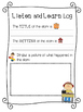 Listen and Learn- Reading Response Logs