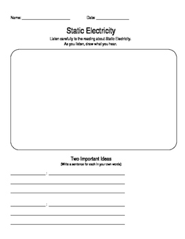 Listen and Record - Electricity (easy change to fit all subjects)