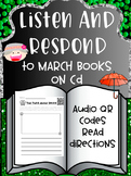 Listen and Respond Center with Audio QR Codes - March