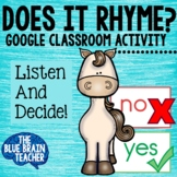 Listen and Respond Rhyming Activity for Google Classroom