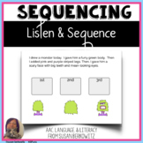 Listen and Sequence BOOM Cards distance learning for speec