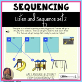 Listen and Sequence set 2 BOOM Cards distance learning spe