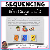 Listen and Sequence set 3 BOOM distance learning speech therapy