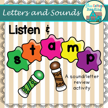 Listen and Stamp! A letter and sound review activity