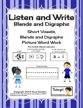 Phonics Listen and Write Blends & Digraphs Book 3 - Phonem