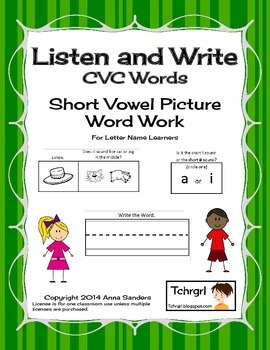 Phonics Listen and Write CVC Words Book 2  Phonics/Phonemic Awareness