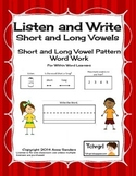 Phonics Listen and Write Short & Long Vowel Patterns Book 4: Phonics Worksheets