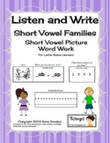 Phonics Listen and Write Word Families Book 1 - Phonic/Phonemic Awareness
