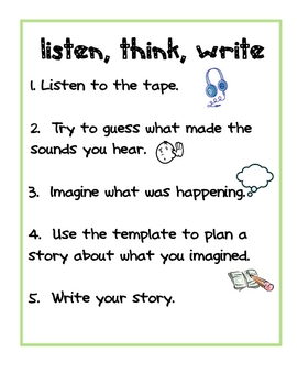 Listen, think and write prompt