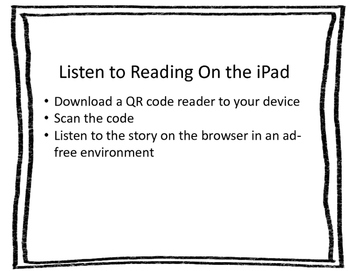 Listen to Reading on the iPad: 50 QR Codes