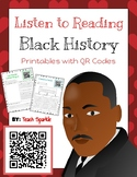 Listen to Reading Black History Printables with QR Codes