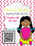Listen to Reading Printables with QR Codes (Beginning, Mid