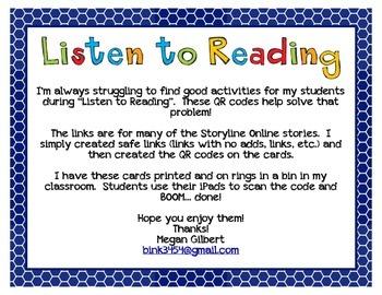 Listen to Reading: QR Codes