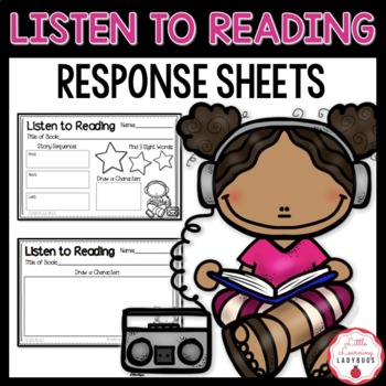 Listen to Reading Response Sheets {K, 1st, 2nd Grade CCSS Aligned}
