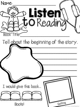 Listen to Reading Response Sheets for Spring & Summer