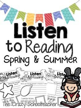 Listen to Reading Response Sheets {Spring & Summer}