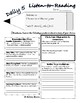 Listen to Reading Worksheet Daily 5