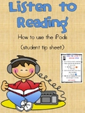 Listen to Reading: iPod Instruction sheet