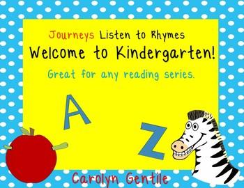 Welcome to Kindergarten aligns with Journeys