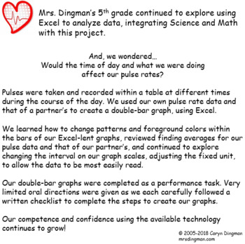 Pulse Rate Comparison Excel Graphing Project