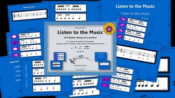 Listen to the Music: Orff, Rhythm, Melody, Form and More (Sixteenth Notes)