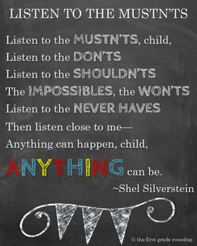 Listen to the Mustn'ts Printable
