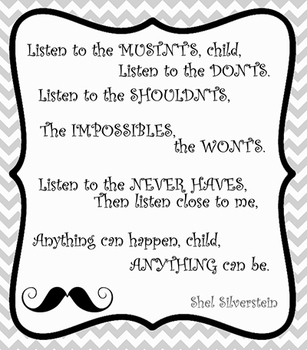 Listen to the Mustn'ts Printable Classroom Poster