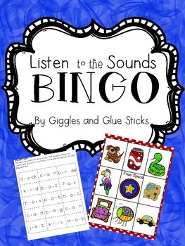 """Listen to the Sounds"" Bingo"