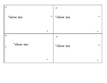 Listener Response 3x5 Card Template