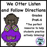 Listening Activities: We Otter Listen and Follow Directions