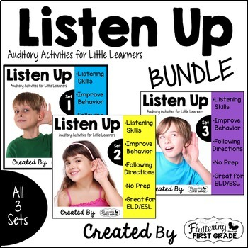 Distance Learning Listening Activities for Common Core~ THE BUNDLE Sets 1-3