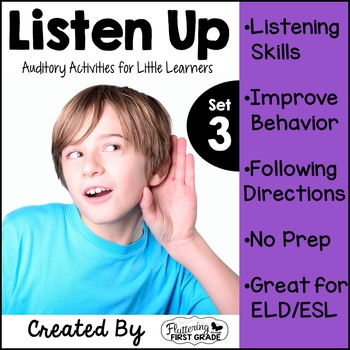 Distance Learning Listening Activities for Common Core~ Listen Up Set 3