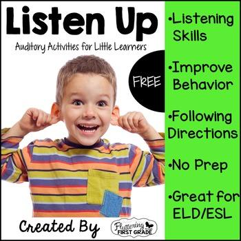 Listening Activities for Common Core~ Listen Up FREEBIE