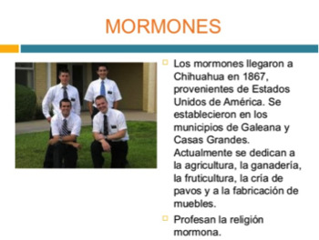 Listening Activity. Immigration to Latin America. Mormons in Mexico