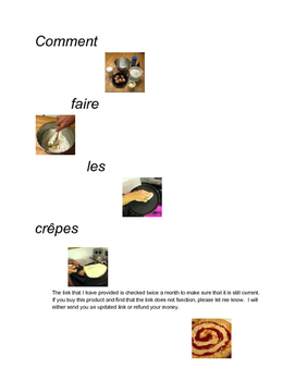 Les Crepes Listening Proficiency Activity (video and worksheet)